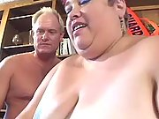 Immense greasy bitch wants his cock