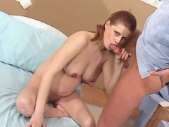 Pregnant cutie sucks doc and fucks