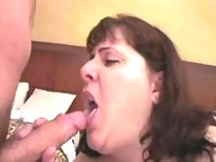 Mature fatty fucked and gets cum
