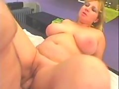 Horny man fucks chubby blonde girl