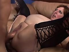 Fat mature gets cumload in mouth